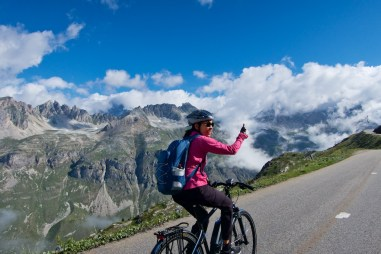 The highest paved pass in Europe .... and Doreen