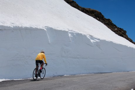 Officially still closed. Nice snow wall