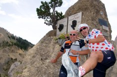 Coppi Bobet monument. Col d'Izoard