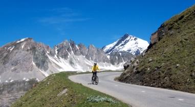 Doreen on Col de l'Iseran bike day