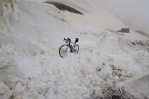 Still some snow on road