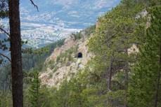 Tunnel below