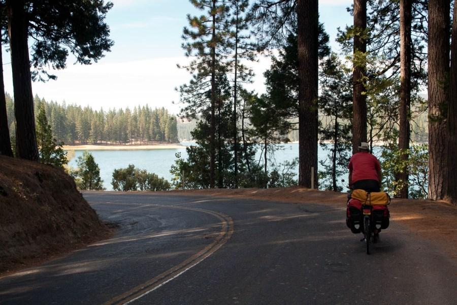 quiet road near Bass Lake