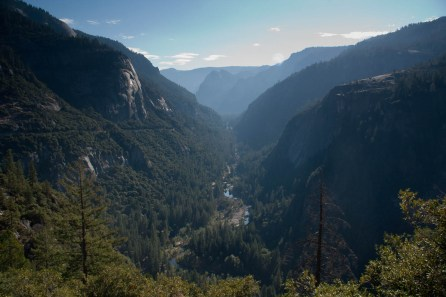 Leaving the Yosemite Valley
