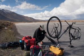 A flat tyre