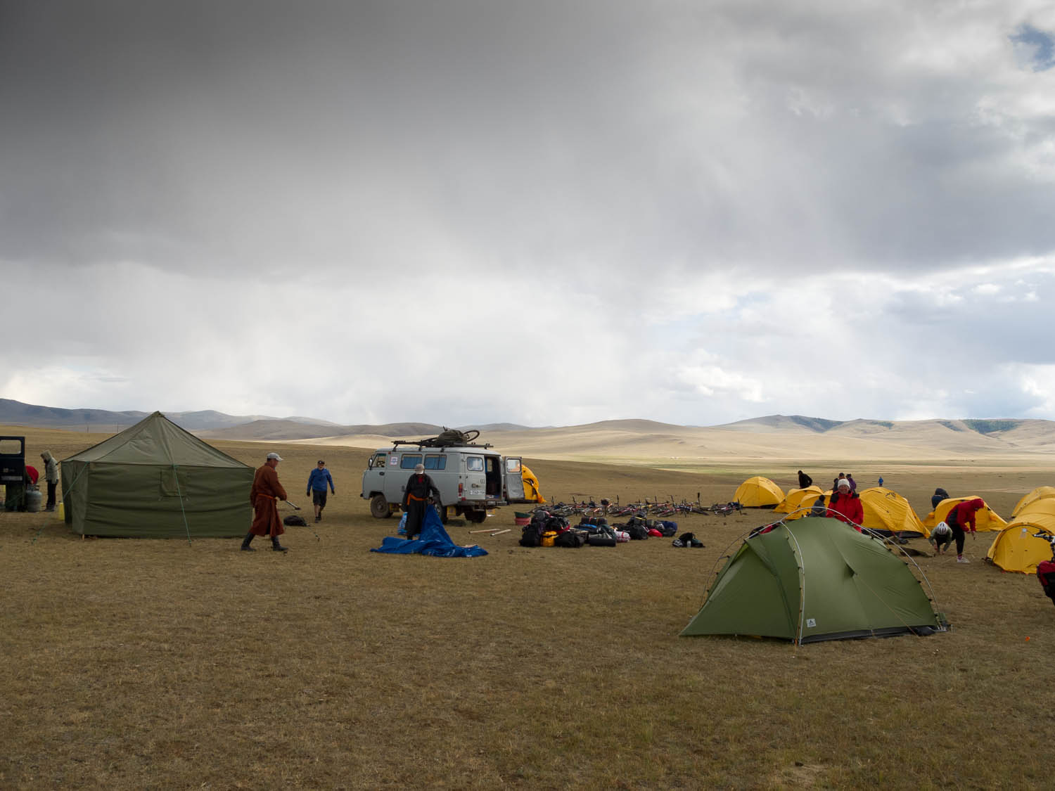 Camping with other (organised) cyclists