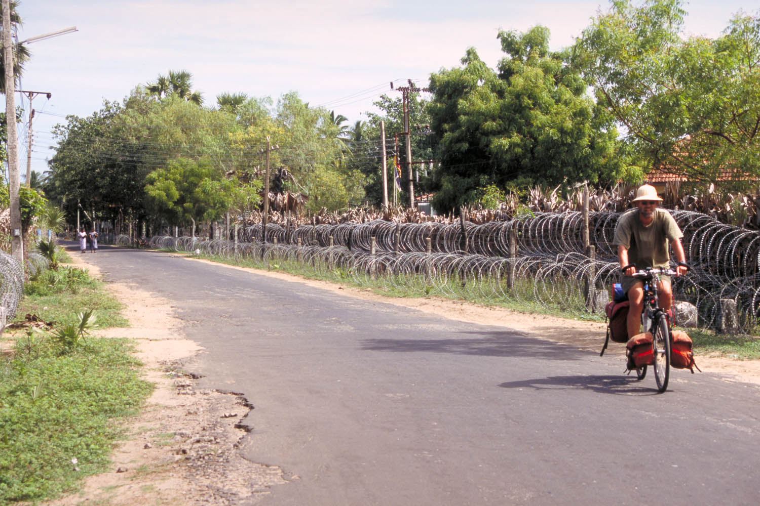Paul passing a military checkpoint
