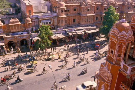 view from Hawa Mahal, palace of the winds, Jaipur