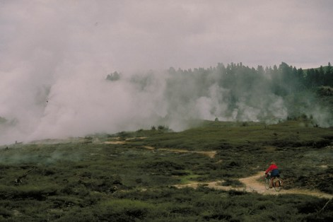cycling on steaming ground