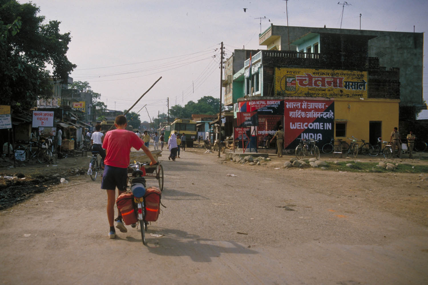 entering India from Nepal