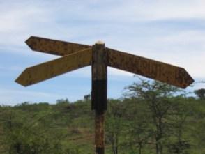 signpost that has seen better days