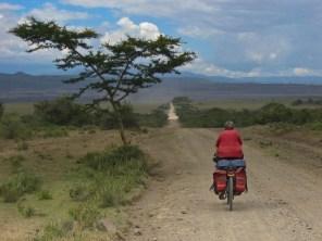 dusty road near lake elementeita