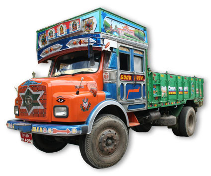 typical Bhutanese truck
