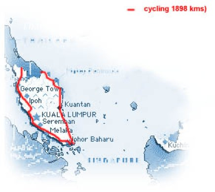 our route in Malaysia