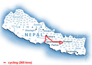 our route in Nepal