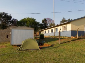 Camping at a Swaziland policestation