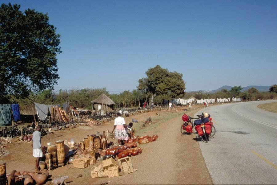 souvenir stalls near Great Zimbabwe ruins
