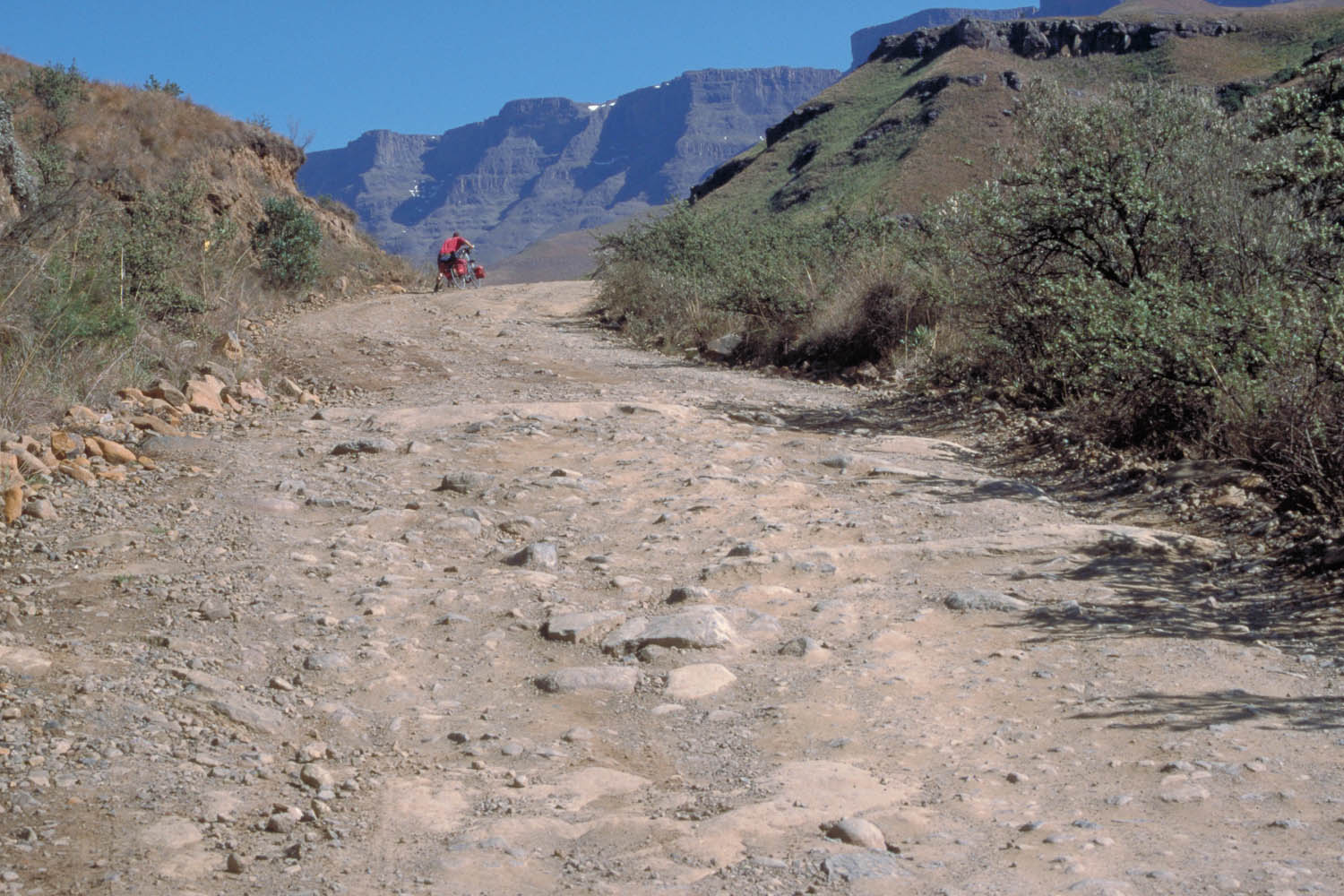 Steep part of the Sani Pass