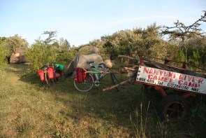 Basic camping in Kenya