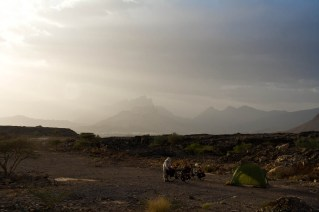 Free camp in Oman mountains