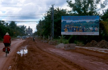 road in Vientiane