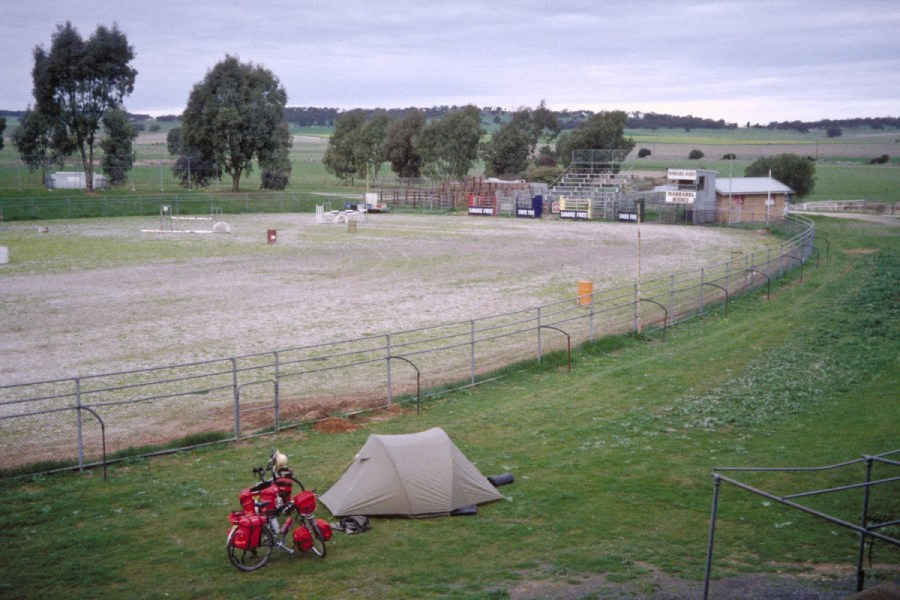Camping at a rodeo ground