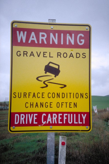 We mostly travelled on gravel roads