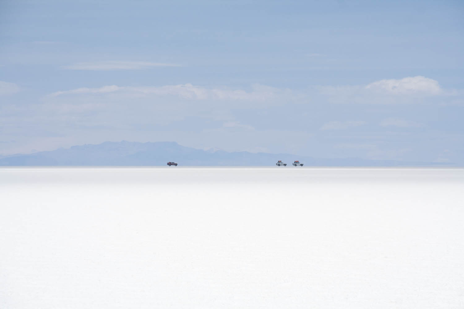 Jeeps on the salar