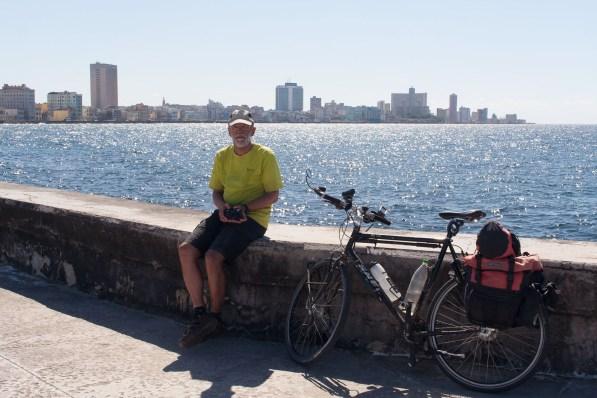 Taking a break on the Malecon: Havana's seaside boulevard