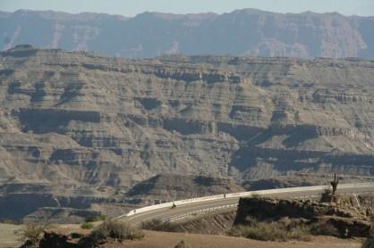 alsof je de Grand Canyon in fietst