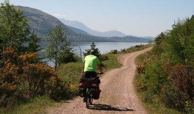 De Caledonian bikeway ten noorden van Fort Williams