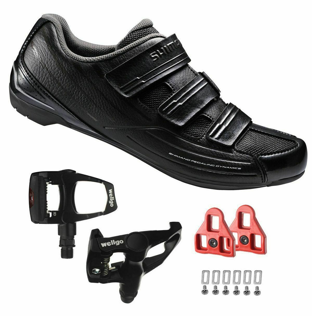 Shimano Sh-rp2 Spd Touring Road Cycling Black Shoes With