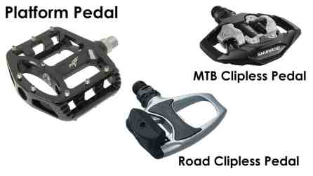 types of bike pedals