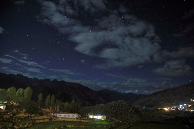 Nako Village at night Spiti