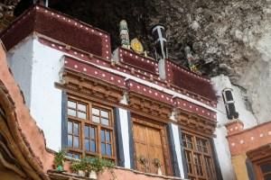 The main prayer room of Phuktal Monastery