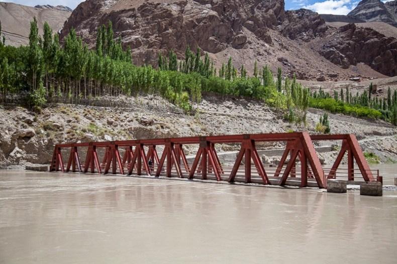 Bridge underwater of Indus River