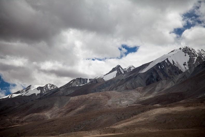 Snow covered peaks near Pangong Tso