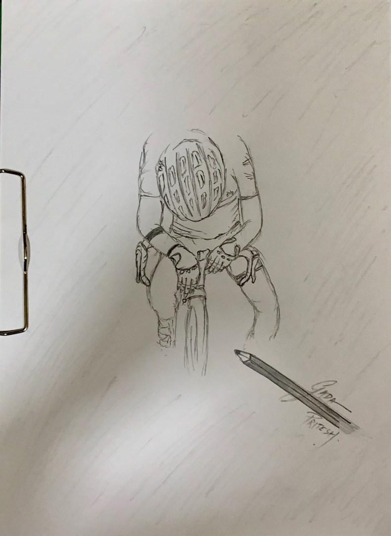 Cyclist Sketch. Work in progress