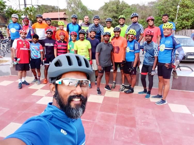 Bicycle Mayor of Chennai, Felix John with WCCG members