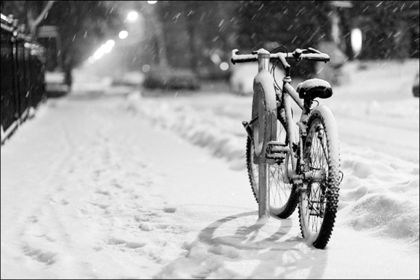 Bike in-Snow ©TopLeftPixel.com