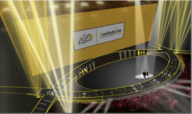An artist impression of the stage for the ceremony