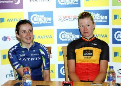 Interview: Jolien D,Hoore & Elinor Barker Stage 2 Womens Tour 2015