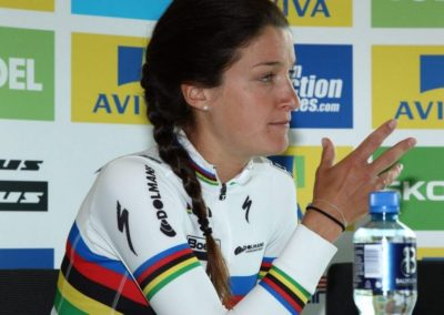 Lizzie Armitstead Yellow Jersey Holder Talks – Stage 4 – Women's Tour 2016