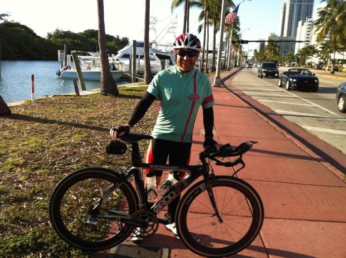 100 km training ride - Miami South beach to Fort Lauderdale, Florida, USA