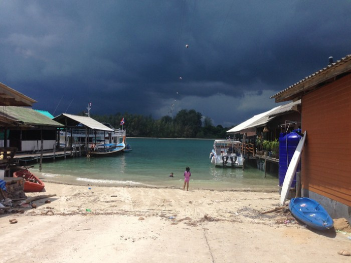 Afternoon monsoon rain in Koh Jum, Thailand