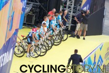 Team Milram met links Nederlands kampioen Niki Terpstra (foto: © Laurens Alblas / Cyclingstory.nl)