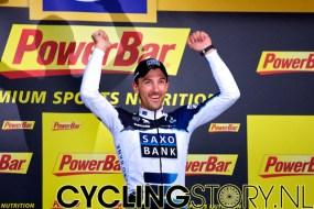 Fabian Cancellara wint de proloog (foto: © Laurens Alblas/Cyclingstory.nl)