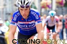 Eindelijk dan de renners, met op kop Chavanel gevolgd door Roelandts (foto: © Laurens Alblas/Cyclingstory.nl)