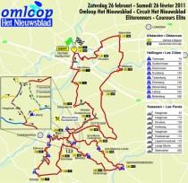 De kaart van de Omloop 2011.