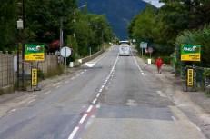 Op weg naar de Col de Manse rijden we over het parcours. Hier de tussensprint in Veynes op 117,5 kilometer, met nog 45 kilometer te gaan tot de finish. (© 2011 Laurens Alblas / Cyclingstory.nl)